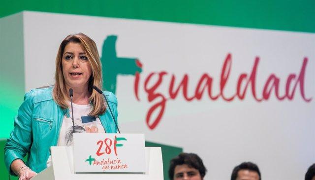 La presidenta de la Junta y secretaria general del PSOE-A, Susana Díaz