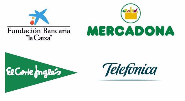 La Caixa, Telefónica, El Corte Inglés y Mercadona