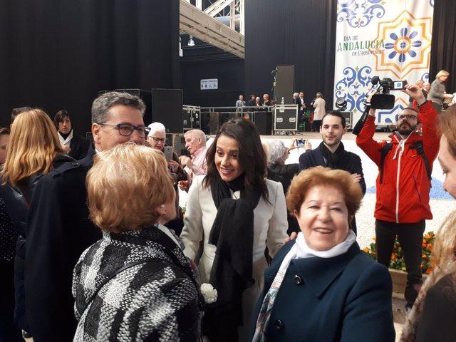 La líder de Cs en Catalunya, Inés Arrimadas, en L'Hospitalet de Llobregat