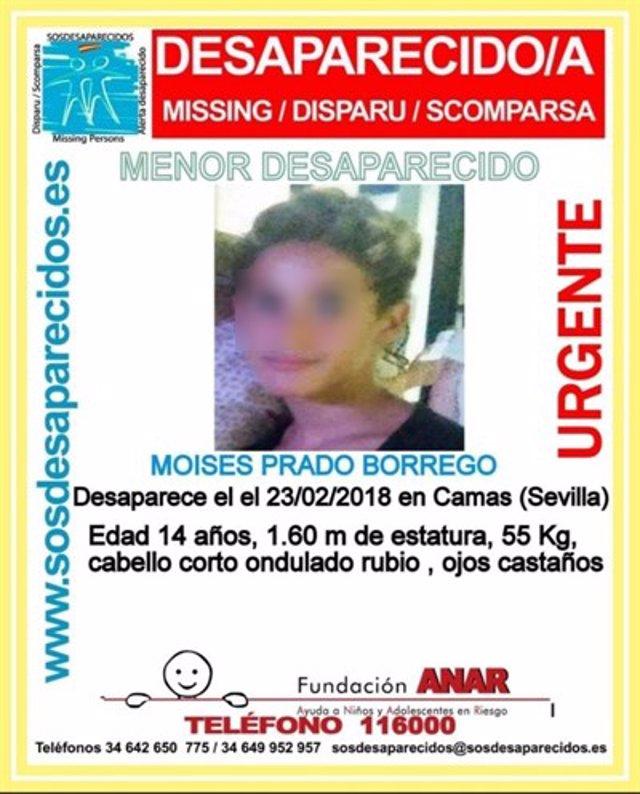 Menor desaparecido en Camas