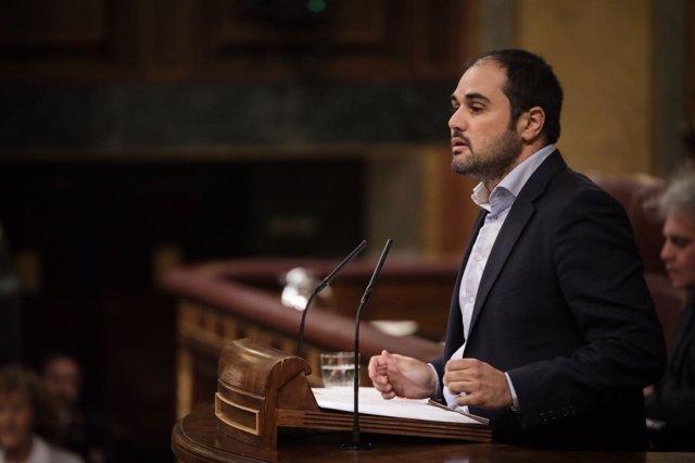 El diputado de Cs por Zaragoza al Congreso, Rodrigo Gómez.