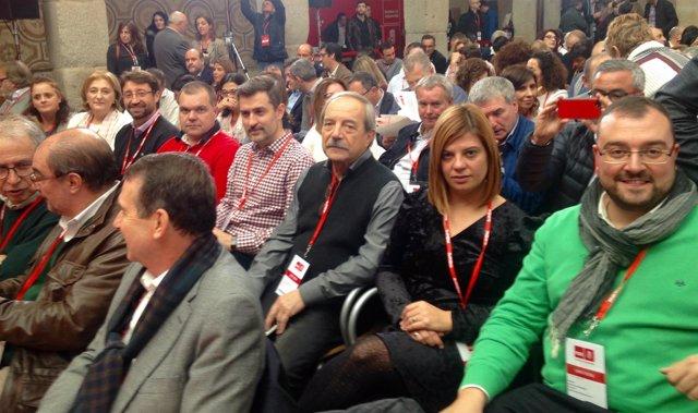 Representación de la FSA en el Comité Federal PSOE con Adrián Barbón al frente