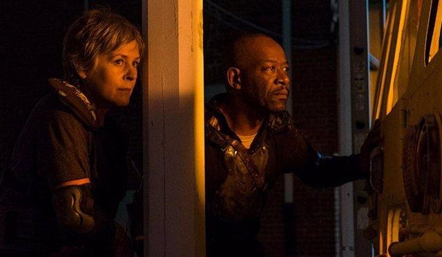 Melissa McBride Y Lennie James en The Walking Dead