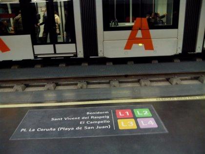 FGV incrementará a 100 euros las sanciones por viajar sin billete en TRAM y Metrovalencia a partir de abril