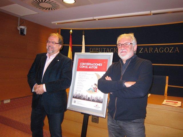 Bizén Fuster y Ramón Acín han presentado el ciclo 'Conversaciones con el autor'