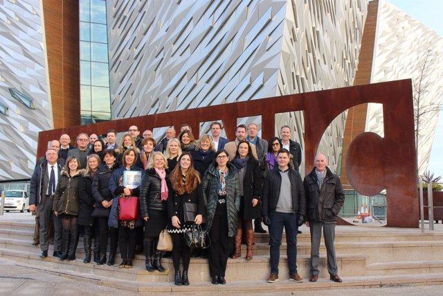 Asistentes a las jornadas en Belfast