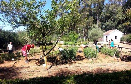 Alumnos de la Sierra Norte realizan un taller sobre el huerto tradicional en El Robledo