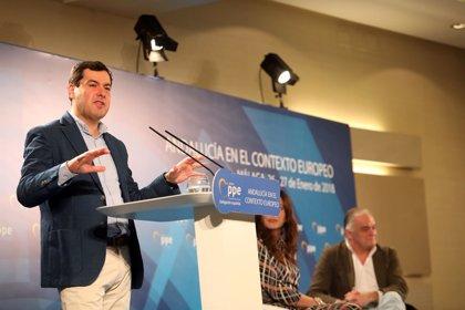 """Moreno admite """"opiniones diversas"""" en el PP sobre quién debe aspirar a la Alcaldía de Sevilla"""
