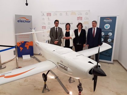 """Deimos presenta su primer dron, el D80 Titán, """"cien por cien"""" fabricado en Puertollano"""