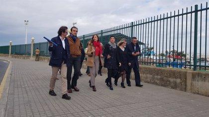 Inician las obras de  urbanización del vial y las explanadas del puerto de Isla Cristina
