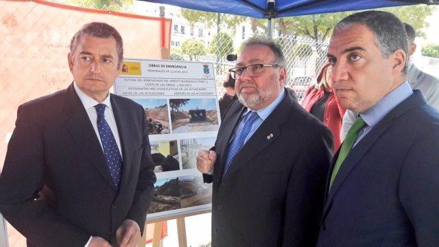 Sanz, Villanova y Bendodo. Visitan obras temporal 2015