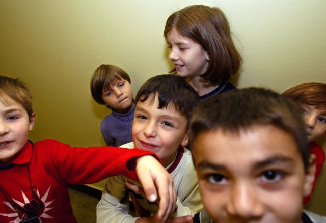 Refugiados chechenos en Varsovia