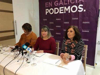 """Podemos censura las palabras de Tellado sobre el 8M y tacha de """"partido machista"""" al PPdeG por su organigrama"""