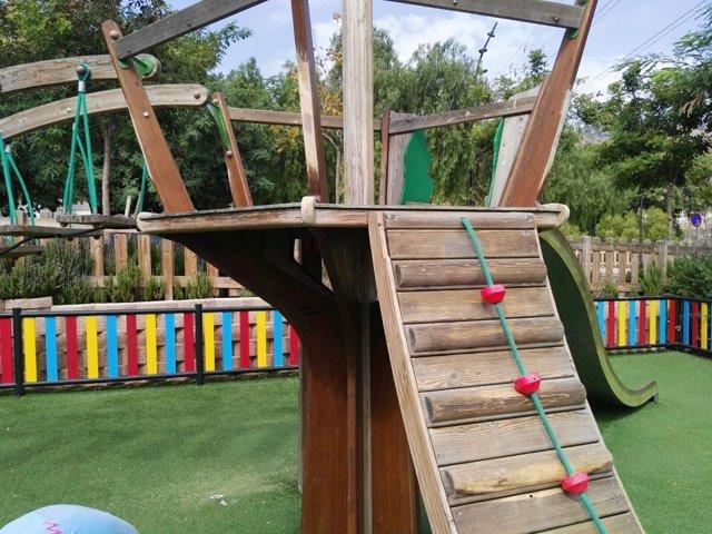 Parque infantil, juegos, niños, parque, jugar,