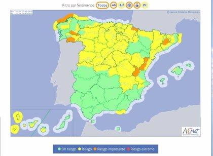 La nieve obliga este martes a activar la alerta naranja en zonas de Lugo y Ourense