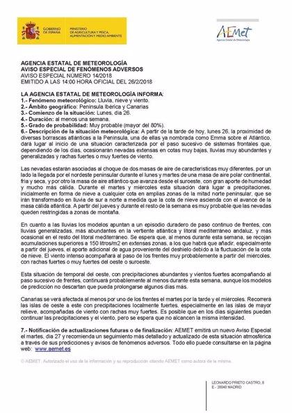 Activada la alerta por nieve y hielo en Ávila, Segovia y Salamanca