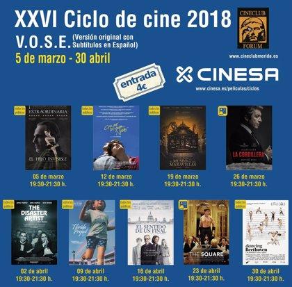 El XXVI Ciclo de Cine en Versión Original de Mérida ofrecerá nueve películas nominadas a los premios Óscar