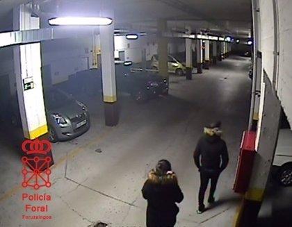 Detenidos dos menores por cometer varios robos con fuerza en un garaje en Pamplona