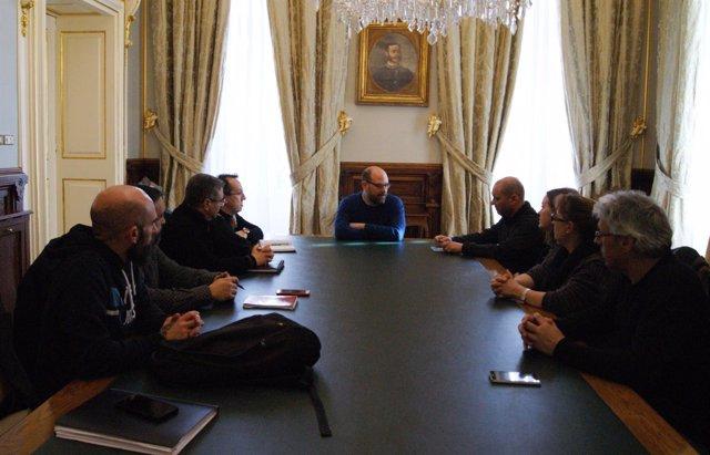 Reunión de sindicatos de justicia con Martiño Noriega