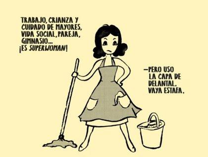 """Viñetas con humor contra los """"tics machistas"""" en las tareas domésticas"""