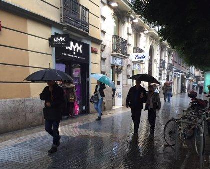 Las lluvias dejan hasta 19,6 litros por metro cuadrado en Cortes de Pallás (Valencia) y 15,8 en Xàbia (Alicante)
