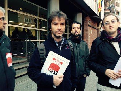Detenido el secretario general de la CGT de Catalunya por una orden judicial pendiente