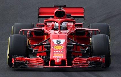 Vettel domina el segundo día de test en Montmeló bajo el frío