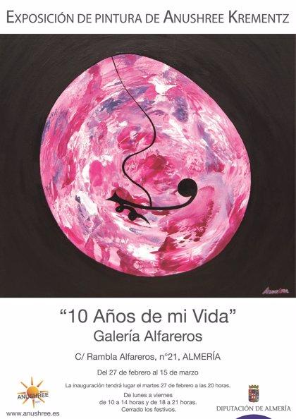 La Sala Alfareros de Almería invita al visitante a viajar por la pintura evolutiva de Anushree Krementz