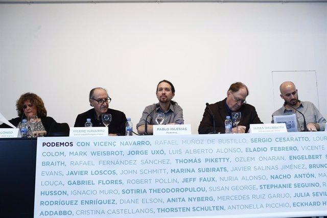 Podemos presenta su Consejo Internacional de Economía con Pablo Iglesias