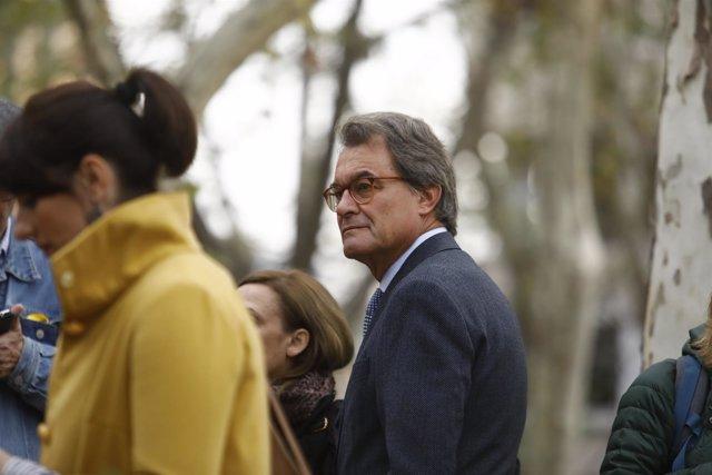 Artur Mas en la Audiencia para apoyar a Junqueras y exmiembros del Govern
