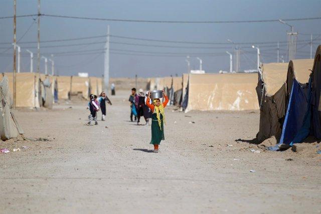 Campo de desplazados de Amriyat al Faluya, en Anbar