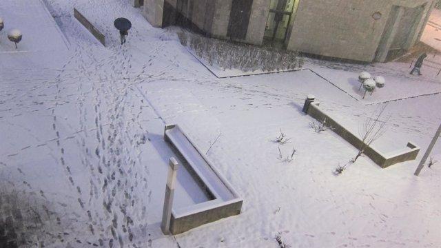 Nieve en las calles de Euskadi