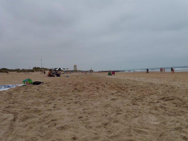 Imagen de la playa de El Palmar (Cádiz)