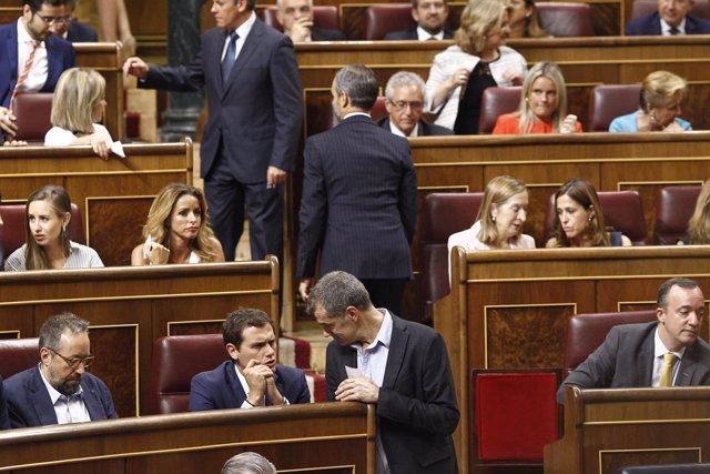 Albert Rivera y Toni Cantó en el Congreso
