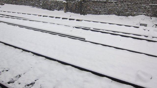 Nieve en las vías