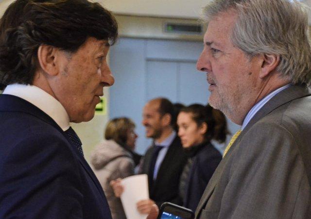 El ministro Íñigo Mendez de Vigo y José Ramón Lete