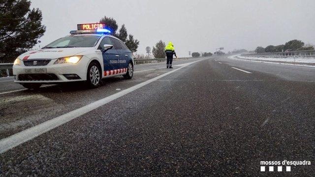 Prohibición de circular camiones por Catalunya