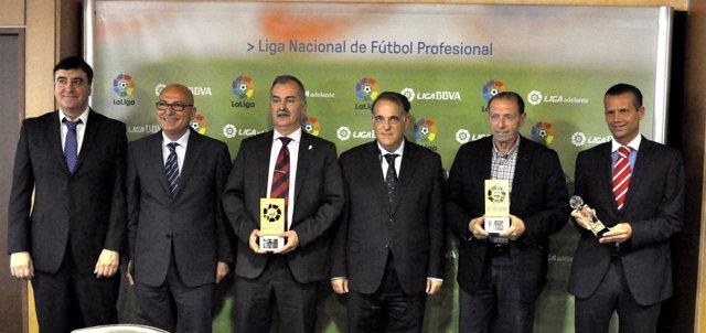 Enrique Castro 'Quini', Germán Andueza, Muñiz Fernández,Javier Tebas