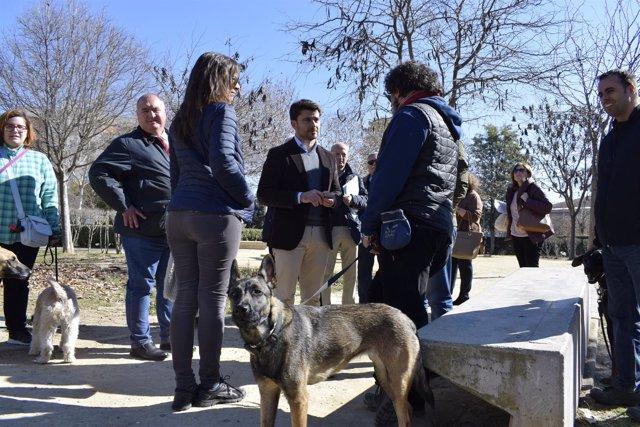 Beltrán Pérez visita los Jardines Ramón Rubial