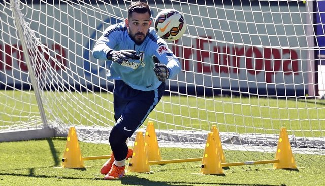 Miguel Ángel Moyá, Entrenamiento Ciudad Deportiva Atlético de Madrid