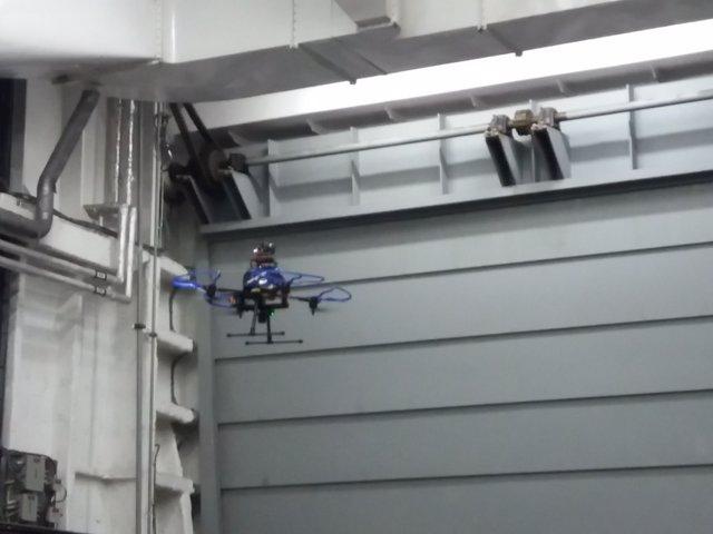 Navantia presenta en Ferrol un dron