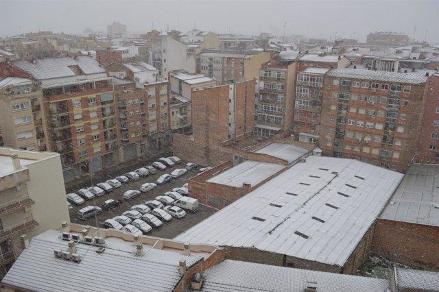 Nieve en Lleida