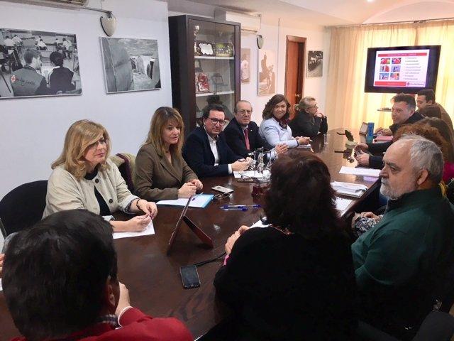 Reunión del PP de Huelva con Cruz Roja