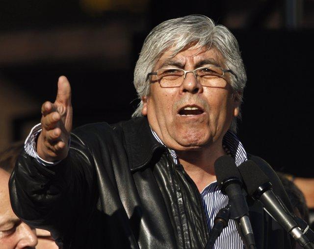 El líder sindical argentino, Hugo Moyano