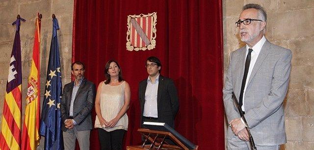 Carles Manera al tomar posesión como presidente del CES en julio de 2017