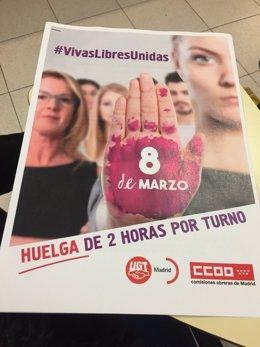 Cartel de la huelga feminista del 8 de marzo en Madrid
