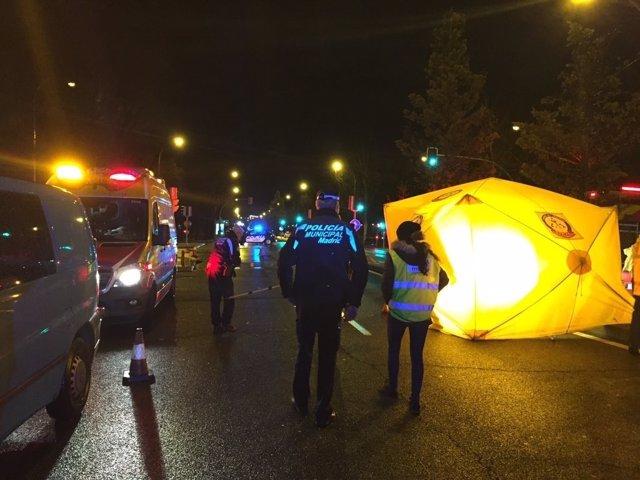 Atropello mortal en el distrito madrileño de Moratalaz