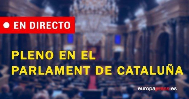 Pleno en el Parlament de Cataluña