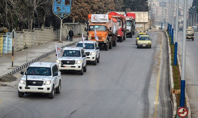 Convoy de la Media Luna Roja Siria y el CICR hacia Afrin