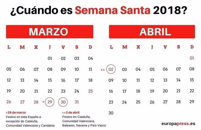 Cundo es semana santa 2018 calendario y fechas calendario y fechas thecheapjerseys Image collections